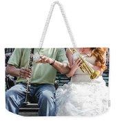 The Bride Plays The Trumpet- Destination Wedding New Orleans Weekender Tote Bag