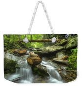 The Bridge At Alum Cave Weekender Tote Bag by Debra and Dave Vanderlaan