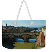 The Bridges Of Florence Italy Weekender Tote Bag