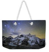 The Bright Stars Of Auriga And Taurus Weekender Tote Bag