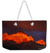The Brilliance Of Light Mount Rundle Banff Weekender Tote Bag