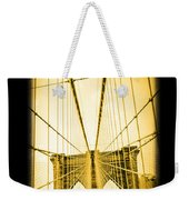The Brooklyn Bridge New York Weekender Tote Bag