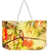 The Bubbly World Of A Hummingbird Weekender Tote Bag
