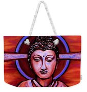 The Buddha In Red And Gold Weekender Tote Bag