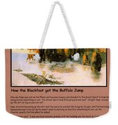 The Buffalo Heard  Weekender Tote Bag