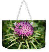 The Bug And The Thistle Weekender Tote Bag