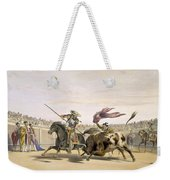 The Bull Following Up The Charge, 1865 Weekender Tote Bag