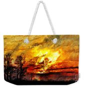 The Burning - Digital Paint Weekender Tote Bag