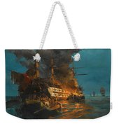 The Burning Of A Turkish Frigate Weekender Tote Bag