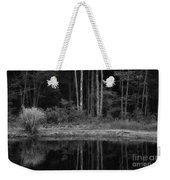 The Bush By The Lake Bw Weekender Tote Bag
