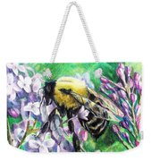 The Busy Bee And The Lilac Tree Weekender Tote Bag