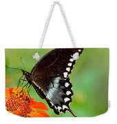 The Butterfly And The Zinnia Weekender Tote Bag