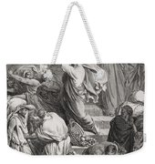 The Buyers And Sellers Driven Out Of The Temple Weekender Tote Bag by Gustave Dore