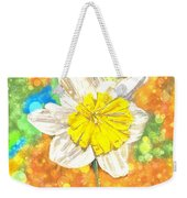 The Buzzing Life Of A Spring Narcissus Weekender Tote Bag
