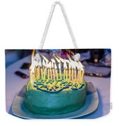 The Cake Is On Fire Weekender Tote Bag