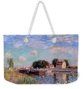 The Canal At Saint-mammes Weekender Tote Bag