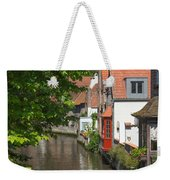 The Canal In The Downtown Of Bruges  Weekender Tote Bag