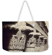 The Capitals Of The Portico Of The Temple Of Khnum In Esna Weekender Tote Bag