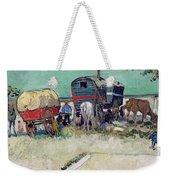 The Caravans   Gypsy Encampment Near Arles Weekender Tote Bag by Vincent Van Gogh