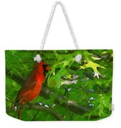 The Cardinal 2 Painterly Weekender Tote Bag