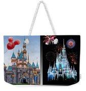 The Castles Of Disney 2 Panel Vertical Weekender Tote Bag