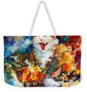 The Cat And The Guitar Weekender Tote Bag