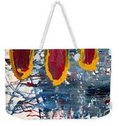 The Tabby Cat Saw The Lights Weekender Tote Bag
