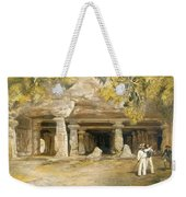 The Cave Of Elephanta, From India Weekender Tote Bag