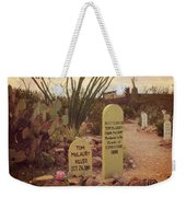 The Cemetery At Boothill Weekender Tote Bag