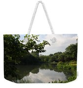 The Central Park Pond Weekender Tote Bag