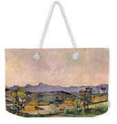 The Chaine De Letoile With The Pilon Du Weekender Tote Bag by Paul Cezanne
