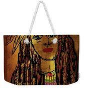 The Cheyenne Indian Warrior Brave Wolf Pop Art Weekender Tote Bag