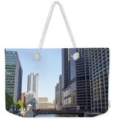 The Chicago River Weekender Tote Bag