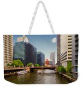 The Chicago River South Branch Weekender Tote Bag