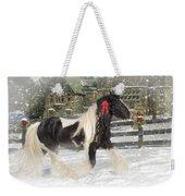 The Christmas Pony Weekender Tote Bag by Fran J Scott