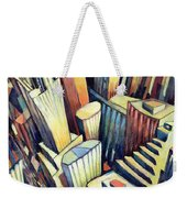 The Chrysler Building Weekender Tote Bag by Charlotte Johnson Wahl