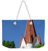 The Chuch Tower- Silute- Lithuania Weekender Tote Bag