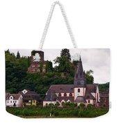The Church And Heimburg In Niederheimsbach Am Rhein Weekender Tote Bag