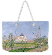 The Church At Vaudreuil Weekender Tote Bag by Gustave Loiseau