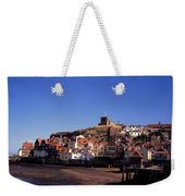 The Church Of St Mary's And Whitby Abbey North Yorkshire England Weekender Tote Bag