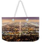 The City Grid Weekender Tote Bag