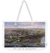The City Of Washington Birds Eye View Weekender Tote Bag