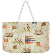 The Coast Of Tunisia And The Gulf Of Gabes, From A Nautical Atlas Of The Mediterranean And Middle Weekender Tote Bag