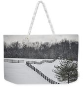 The Color Of Winter - Bw Weekender Tote Bag