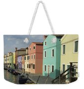 The Colors Of Burano Weekender Tote Bag