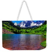 The Colors Of Maroon Bells In Summer Weekender Tote Bag