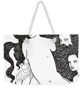 The Comedy Of The Rhinegold Weekender Tote Bag by Aubrey Beardsley