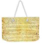 The Constitution Of The United States Of America Weekender Tote Bag