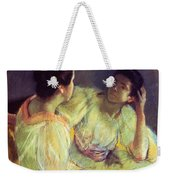 The Conversation Weekender Tote Bag by Mary Stevenson Cassatt