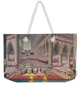 The Coronation Of King William Iv And Queen Adelaide, 1831 Colour Litho Weekender Tote Bag